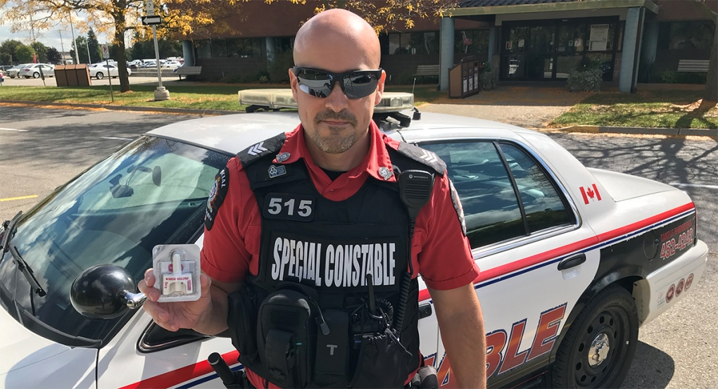 Fanshawe special constable holds naloxone