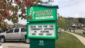 Mitchell Hepburn Public School in St. Thomas, Ont. is seen Tuesday, Sept. 29, 2020. (Jordyn Read / CTV News)