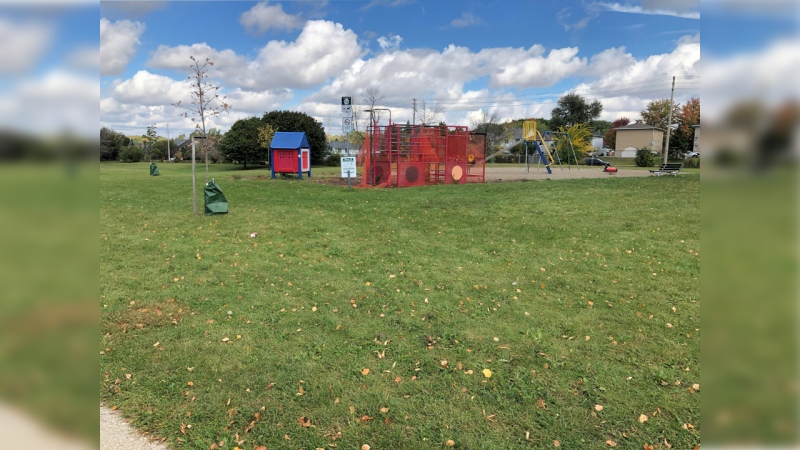 A park near Kinzie Avenue and River Road East seen on Sept. 29, 2020. (Natalie van Rooy / CTV Kitchener)