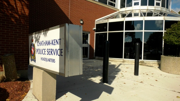 Chatham-Kent Police Service headquarters in Chatham, Ont. on Tuesday, Sept. 29 2020. (Rich Garton/CTV Windsor)