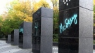 Ukrainian monument vandalized in Sudbury