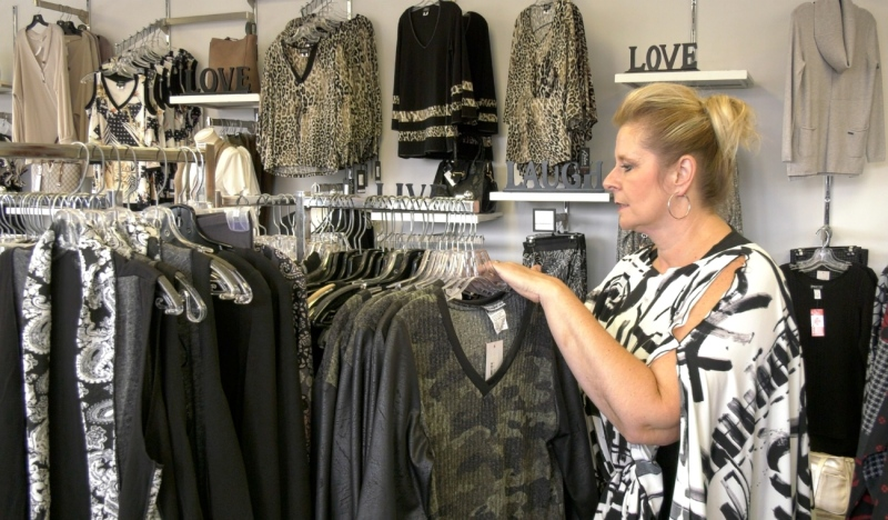 The owners of The Plus Factor in Sudbury have added a new clothing line to their store. 'Black LABB' is the name of the line, and it's manufactured in Canada. (Jaime McKee/CTV News)