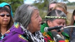 Elders of the Stoney Nakoda First Nations held a renaming ceremony for a mountain near Canmore Tuesday