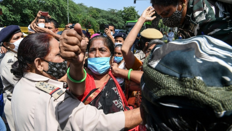 Demonstrators in New Delhi protest Wednesday over the death of a 19-year-old woman allegedly gang-raped in India's latest horrific sexual assault. (AFP)