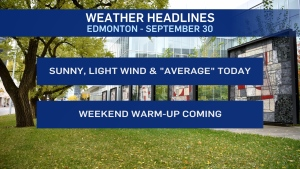 Sept. 30 weather headlines