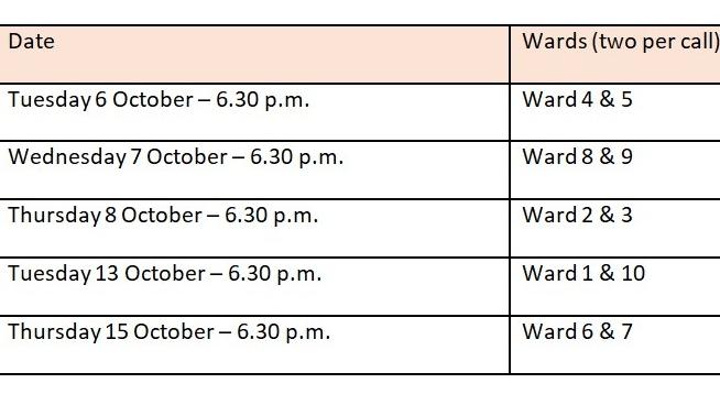 Windsor ward meetings