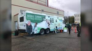 A new mobile testing site has opened in Winnipeg. (Source: Ken Gabel/CTV News)