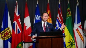 Bloc Quebecois Leader Yves-Francois Blanchet holds a press conference on Parliament Hill in Ottawa on Wednesday, Sept. 30, 2020. THE CANADIAN PRESS/Sean Kilpatrick