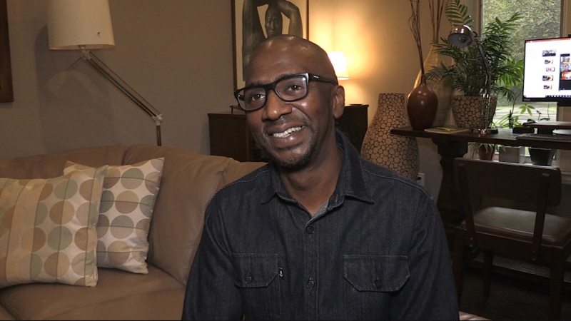 Martin McIntosh, director of Community Relations and Education at the Regional HIV/AIDS Connection speaks in London, Ont. on Wednesday, Sept. 30, 2020. (Jordyn Read / CTV news)