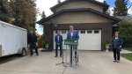 Sask. Party Leader Scott Moe announces his party's proposed home renovation tax credit in Saskatoon.