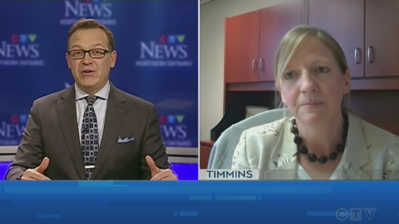 Tony Ryma talks to Dr. Lianne Catton, Medical Officer of Health for Porcupine Health Unit. (CTV Northern Ontario)