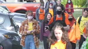 Greater Victoria School District students and teachers wore orange shirts Wednesday in honour of survivors of Canada's residential school system.