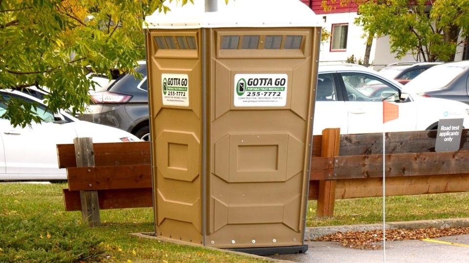 Testing porta-potty