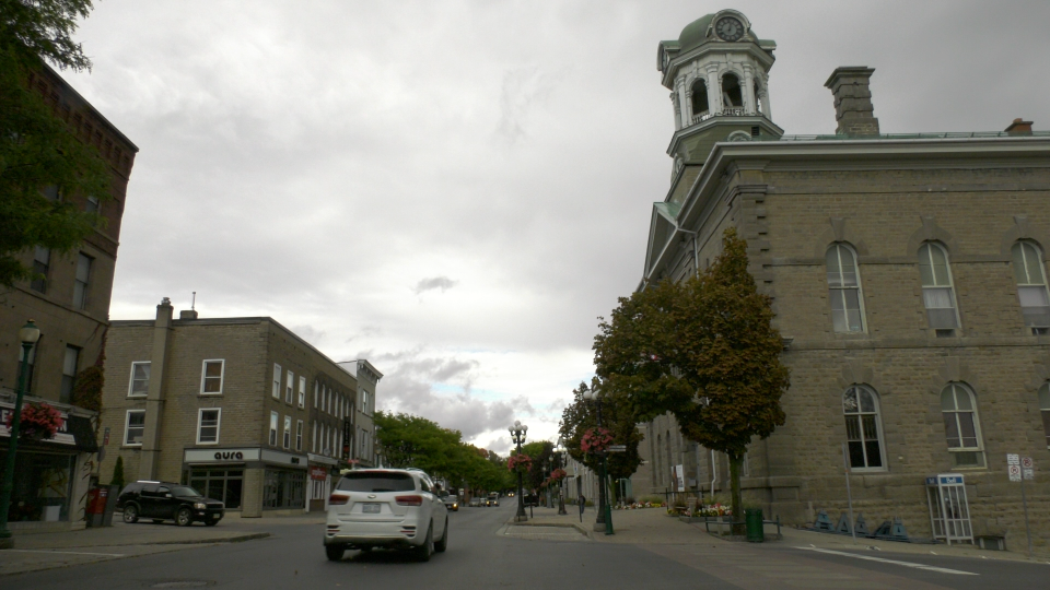 The view of King St. in downtown Brockville on Wednesday, Sept. 30. (Nate Vandermeer/CTV News Ottawa)