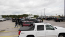 Tow truck gathering