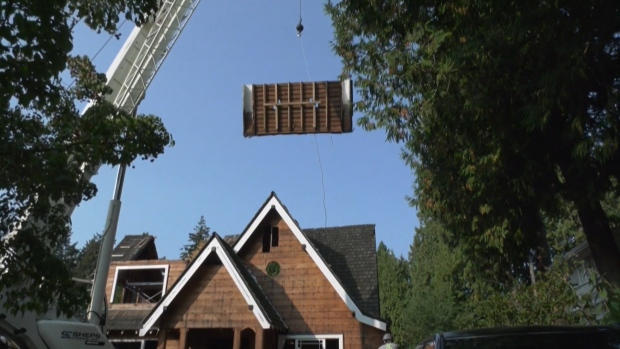 A house on Vancouver's West Side being dismantled by the group Unbuilders is seen on Sept. 30, 2020.