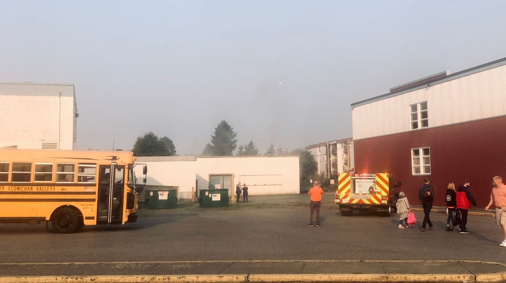 cowichan secondary fire