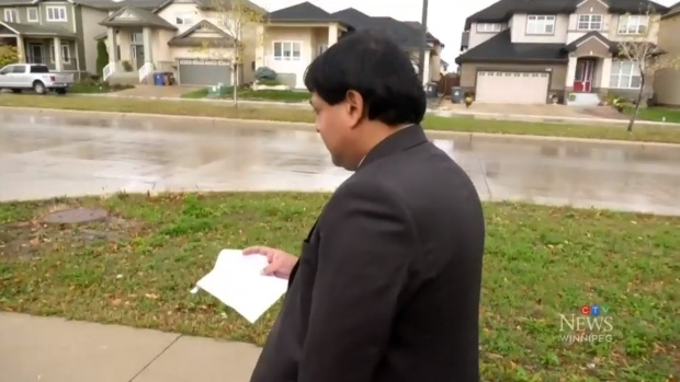 Arindom Sinha is fighting for the City of Winnipeg to waive a fee he received for not cutting his grass while he was stuck abroad during the pandemic.