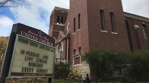Crescent Fort Rouge United Church only restarted its post-lockdown, public worship services Sep. 13 – just weeks before the new restrictions kicked in. (Source: Josh Crabb/ CTV News Winnipeg)