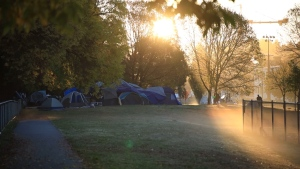 Life inside the tent city