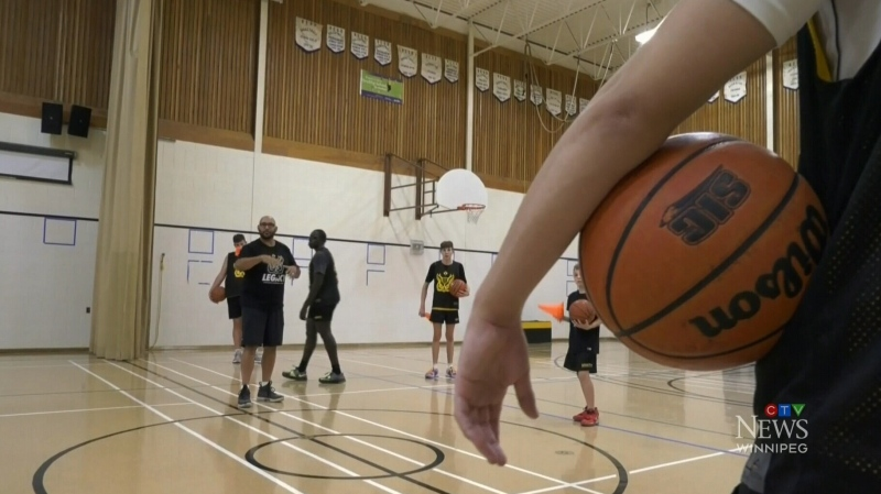 Manitoba basketball players working on their game