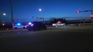 A cyclist was killed when he was struck by an SUV on Hwy 22 near Cochrane, Alta.