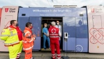 The Viennese are being urged to either register for a spot on the tram or to head to one of several health centres and around 600 doctors' offices where the vaccine is being administered. (AFP)