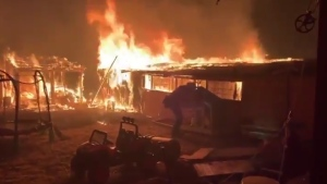 The Glass Fire has been raging in two counties of California and has already burned more than 51,000 acres in less than five days.