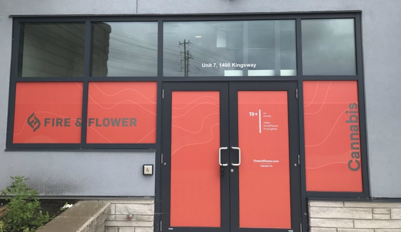 Fire & Flower has been waiting to open a cannabis retail store on The Kingsway for several months. Six stores are awaiting approval to open in the New Sudbury area, with another outlet waiting to open in the south end. Sudbury would have nine stores if all of them are allowed to open.  (Darren MacDonald/CTV News)