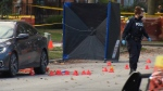 A father of a newborn baby was shot to death Thursday morning in a drive-by shooting near Jane St. and Lawrence Ave.