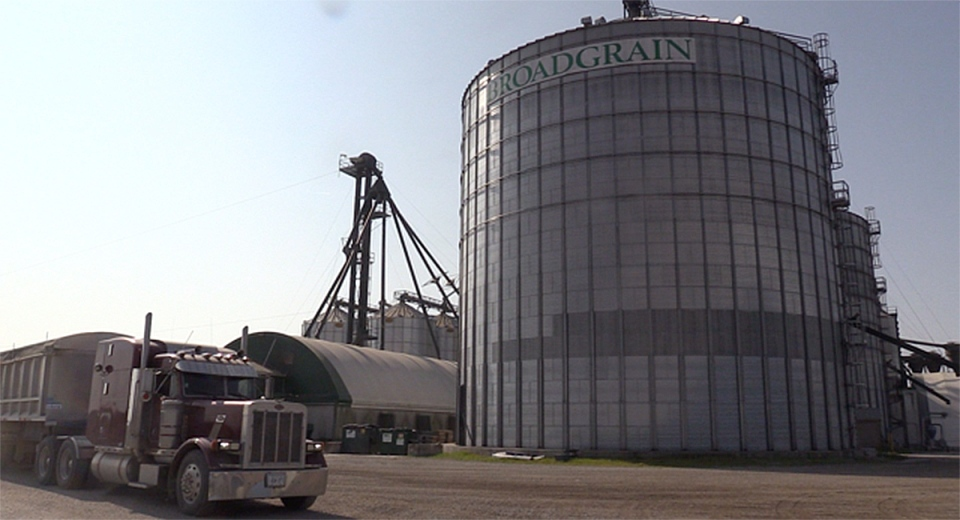 The Broadgrain Commodities elevator is seen in Seaforth, Ont. in Sept. 2020. (Scott Miller / CTV News)