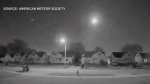 A meteor was spotted in the sky early Wednesday morning near Barrie as many people were on their way to work.