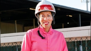 Shannon Beauregard was seriously injured when she was thrown from her horse and run over by another horse in a race at Century Mile Racetrack. (Source: GoFundMe / Support Jockey Shannon Beauregard)