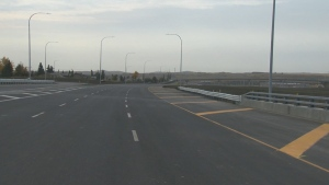 A 12-kilometre stretch of Tsuut'ina Trail, the southwest leg of the ring road, opened to traffic on Oct. 1, 2020