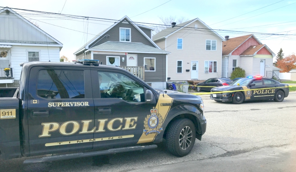 Members of the public in Timmins are being asked to avoid Balsam Street North, where police have evacuated a building where explosive devices have been found. (Sergio Arangio/CTV News)