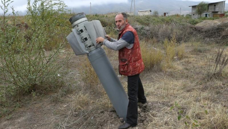 Shelling in Nagorno Karabakh intensified on Thursday. (AFP)
