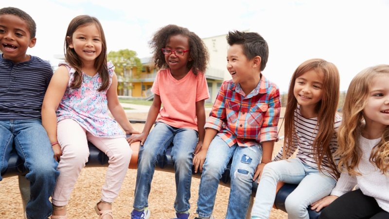 Several young kids at a playground are seen in this undated stock image. (iStock)