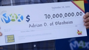 Blenheim man wins $70 million lotto