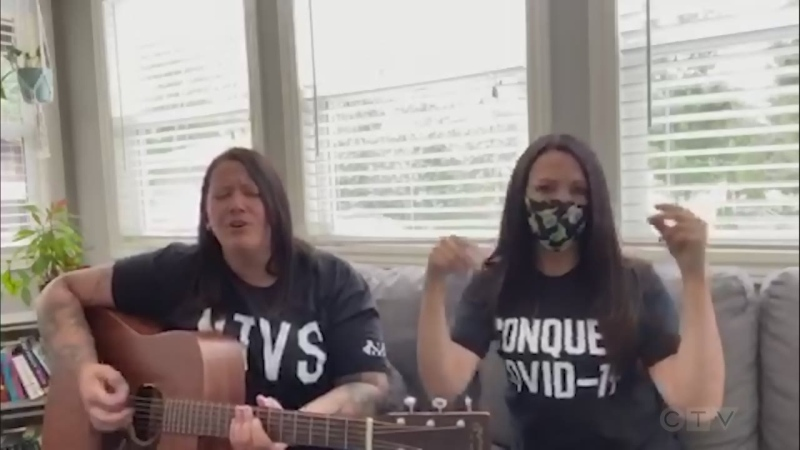 Allison MacDonald and Mandy Brosseau from Sudbury do a COVID-adjusted version of 'Jack and Diane.'