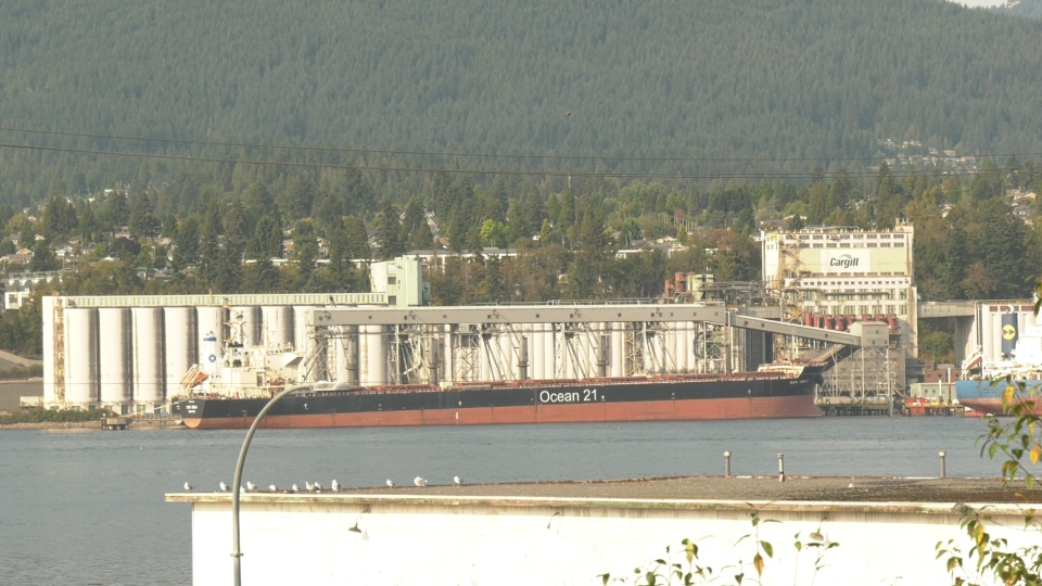 The Cargill terminal in North Vancouver is seen on Oct. 1, 2020.