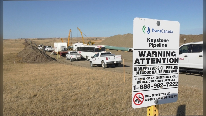 TC Energy said on Jan. 17 that it has a plan to eliminate the impact of greenhouse gas emissions from Keystone XL's operations. (file)