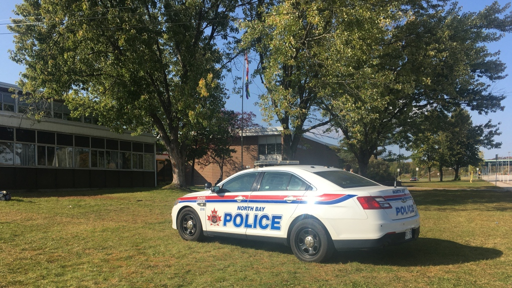 North Bay police at Chippewa Secondary School