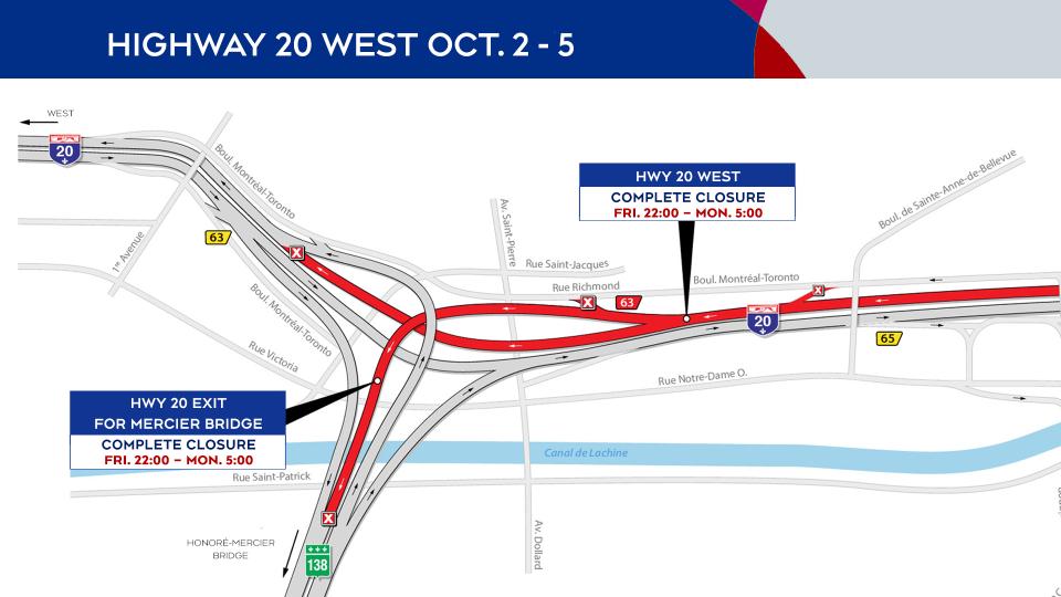 Highway 20 closures Oct. 2-5, 2020
