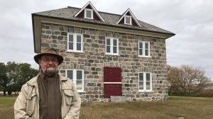 Richard Krehbiel is pictured near Smithfield, his family's settlement near Kisby, Sask. (Cally Stephanow / CTV News Regina)