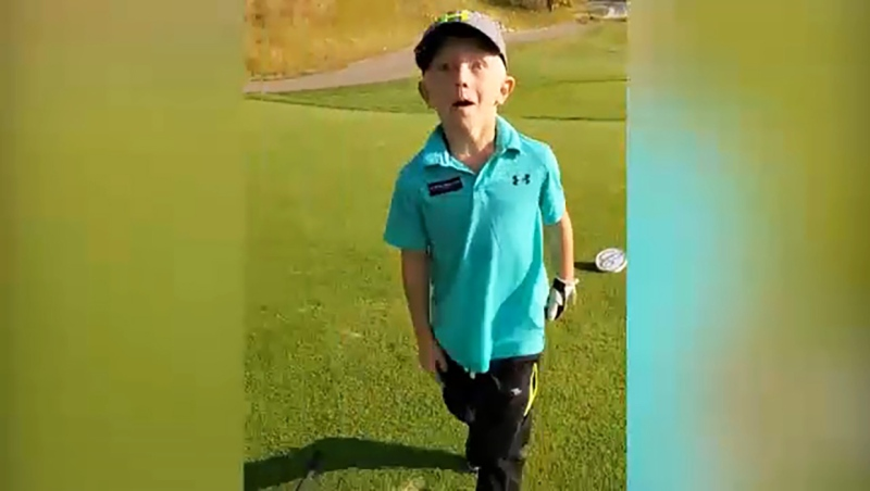 He's 5 and just got his first hole in one. Meet Shane Skrypnychuk, our Athlete of the Week. Glenn Campbell reports