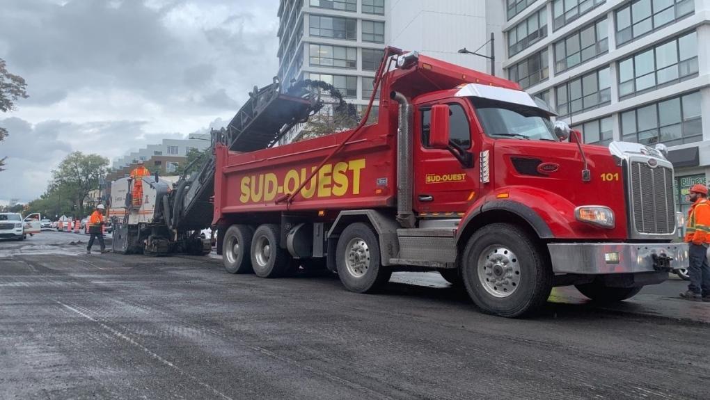 Construction along Sherbrooke St.