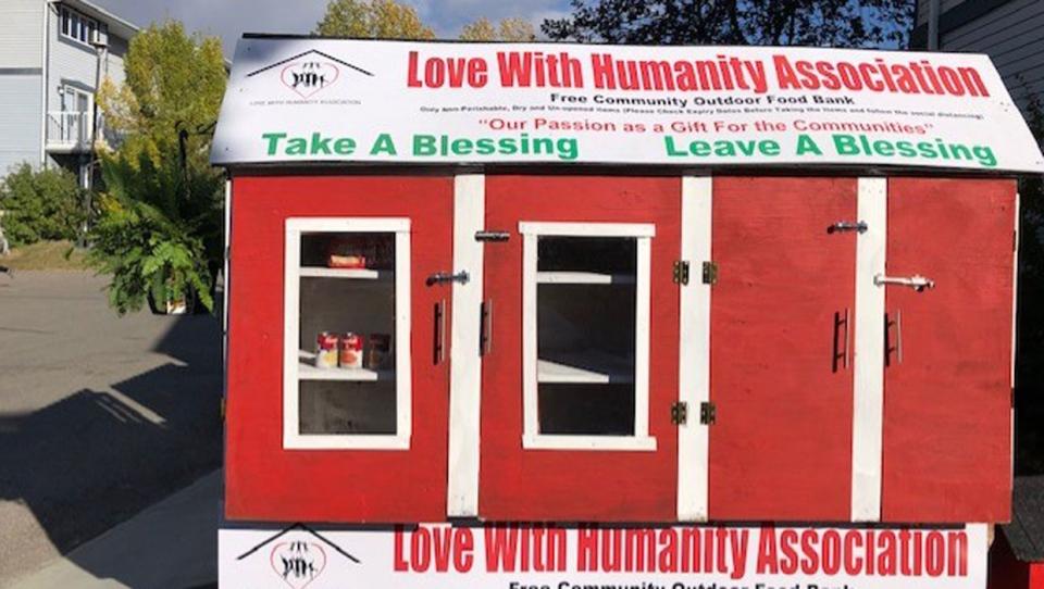 calgary. food bank, love with humanity, donations,