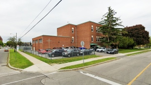 St. Charles Catholic School is seen in screengrab from Google Street View. (Google Maps)