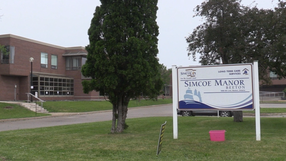 Simcoe Manor long term care facility in Beeton, Ont. in an undated picture (Mike Arsalides/CTV News)