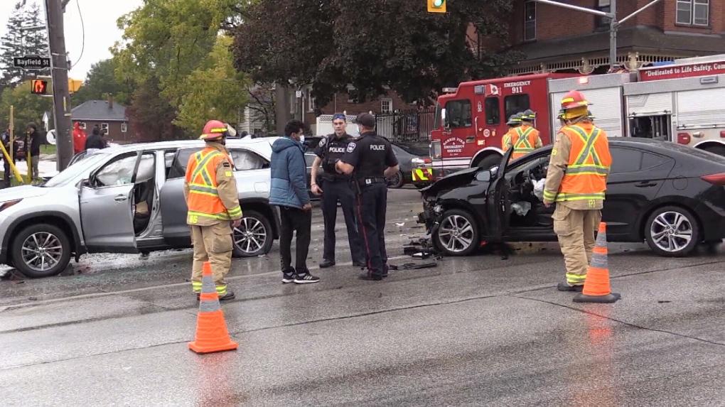 Bayfield and Grove crash